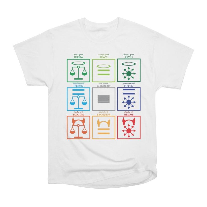 Alignment Chart (PotW) Men's T-Shirt by JordanaHeney Illustration