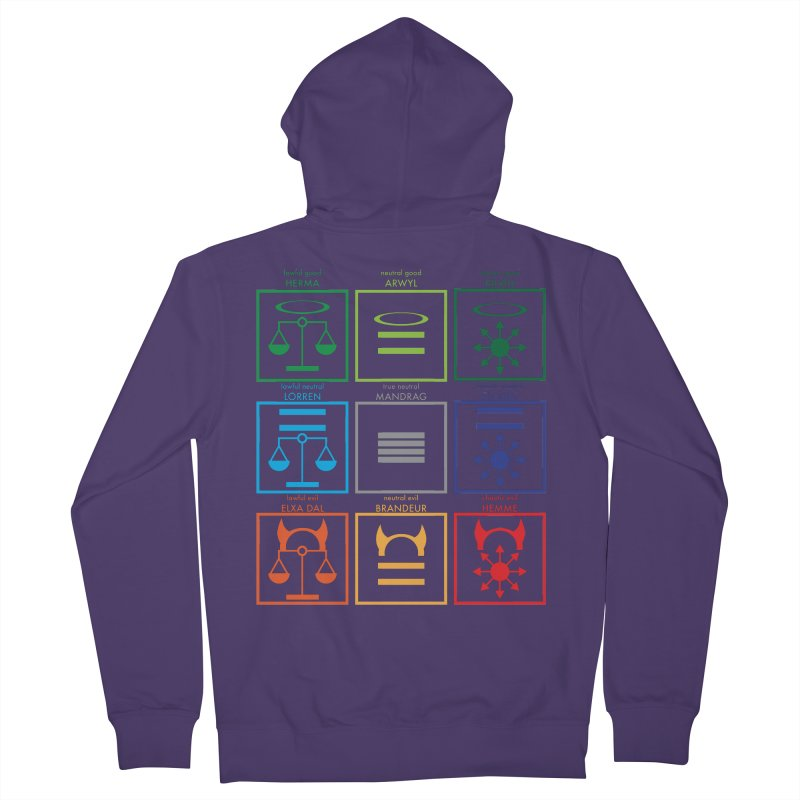 Alignment Chart (PotW) Women's Zip-Up Hoody by JordanaHeney Illustration