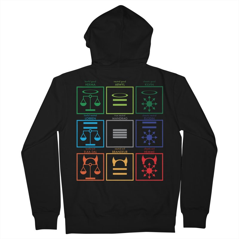Alignment Chart (PotW) Men's Zip-Up Hoody by JordanaHeney Illustration