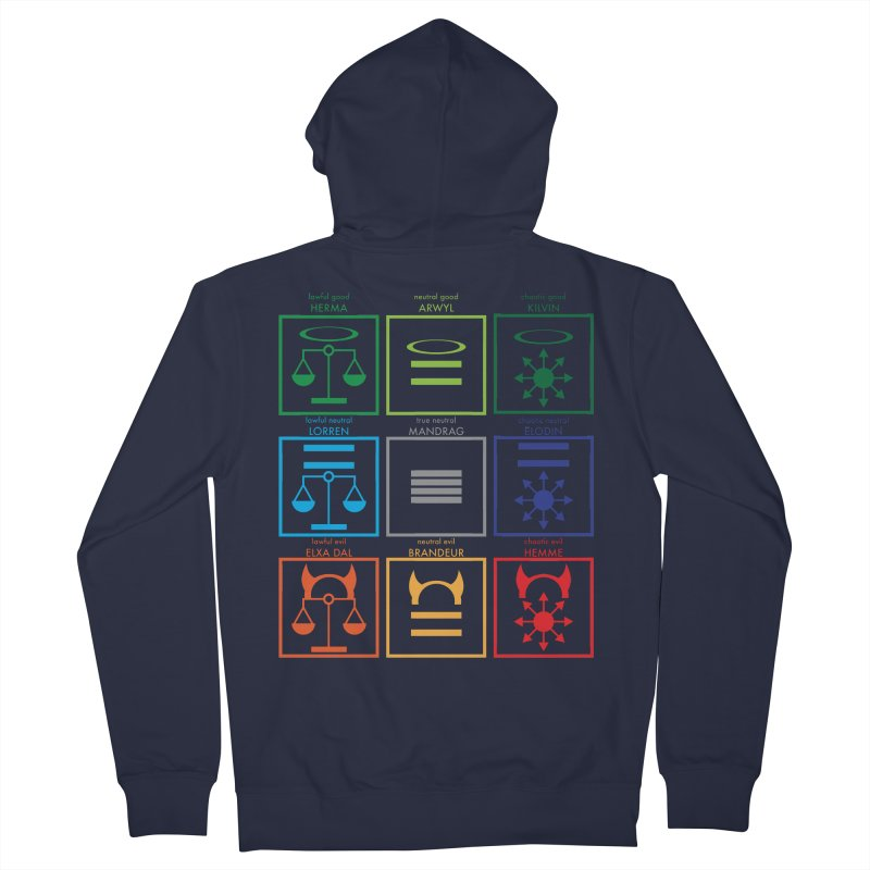 Alignment Chart (PotW) Men's French Terry Zip-Up Hoody by JordanaHeney Illustration