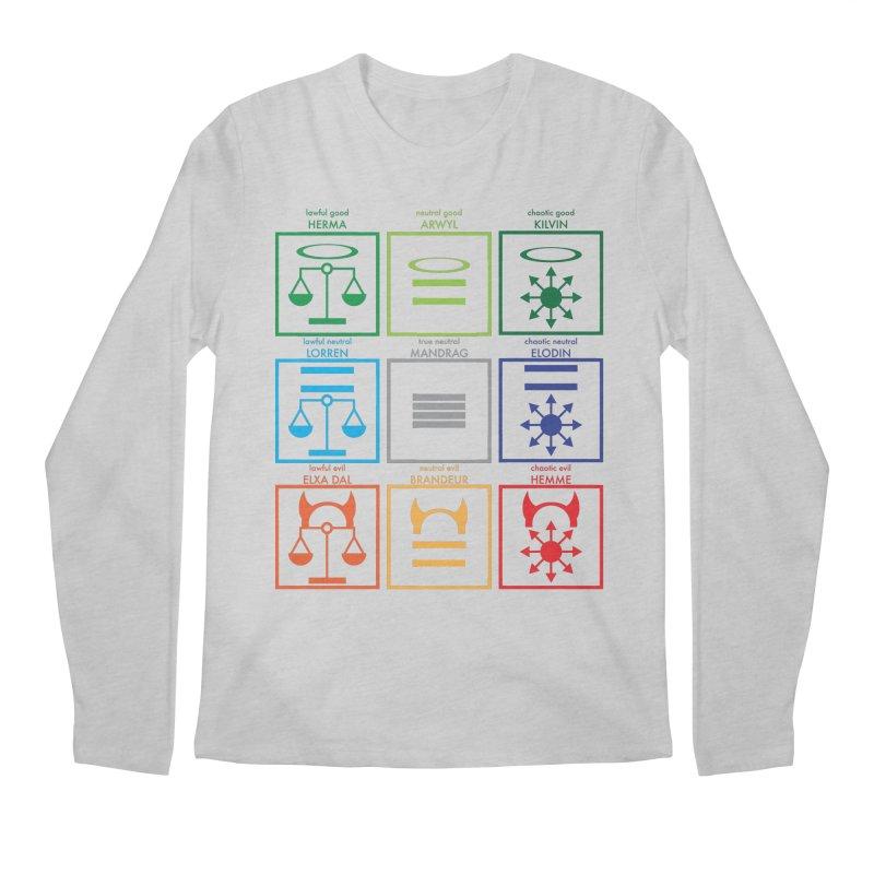 Alignment Chart (PotW) Men's Regular Longsleeve T-Shirt by JordanaHeney Illustration
