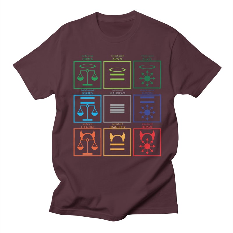 Alignment Chart (PotW) Men's Regular T-Shirt by JordanaHeney Illustration