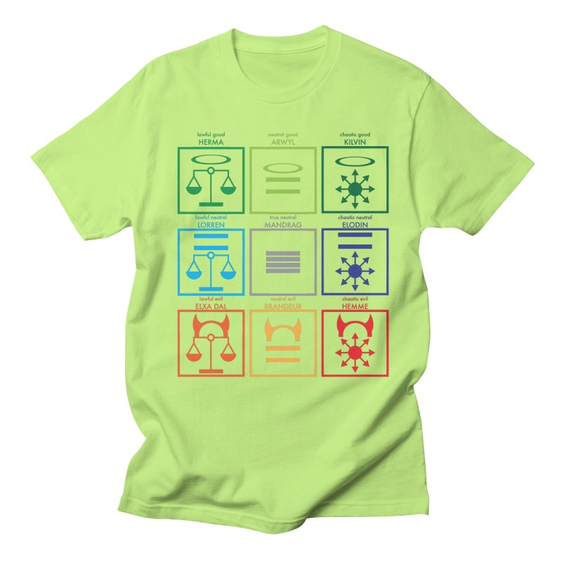 Alignment Chart (PotW) Men's T-Shirt by JordanaHeney Illustration