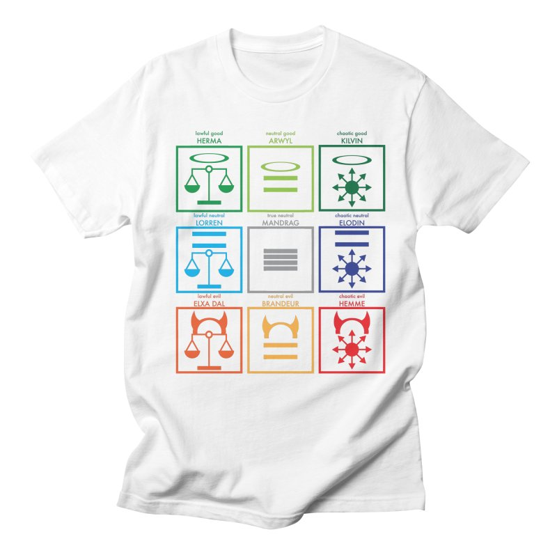 Alignment Chart (PotW) Women's Regular Unisex T-Shirt by JordanaHeney Illustration