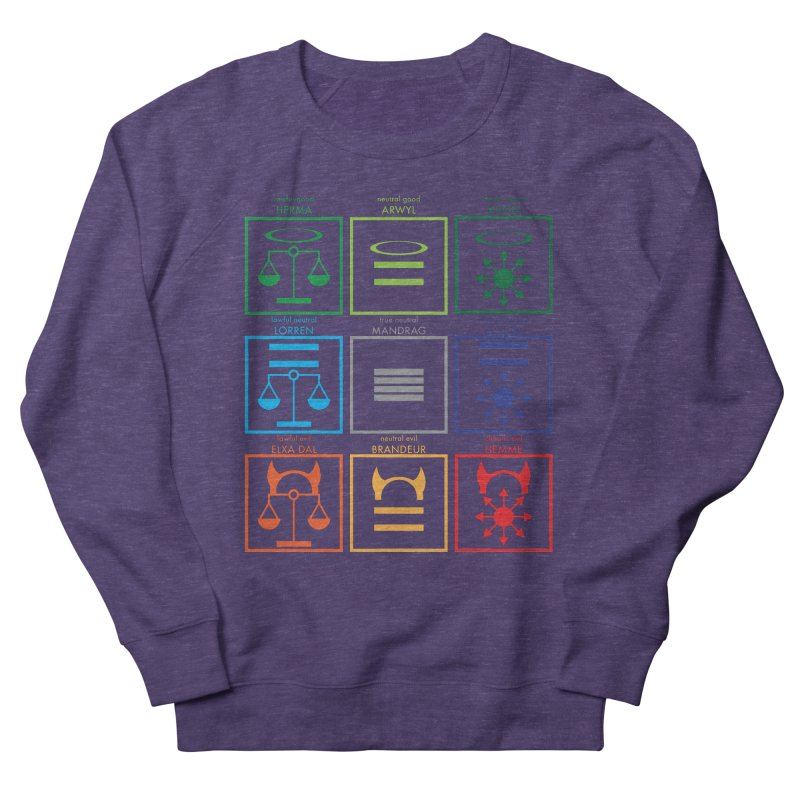 Alignment Chart (PotW) Women's French Terry Sweatshirt by JordanaHeney Illustration