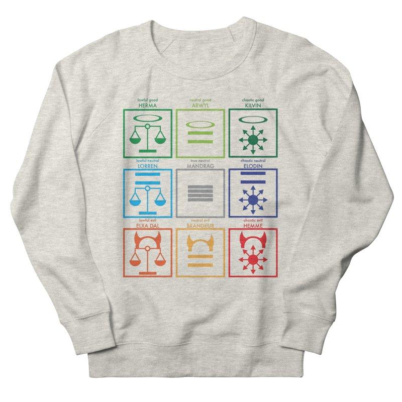 Alignment Chart (PotW) Women's French Terry Sweatshirt by JordanaHeney Illustration