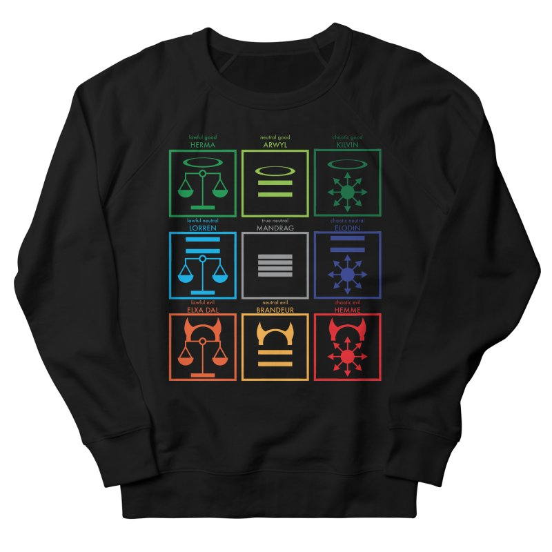 Alignment Chart (PotW) Men's French Terry Sweatshirt by JordanaHeney Illustration