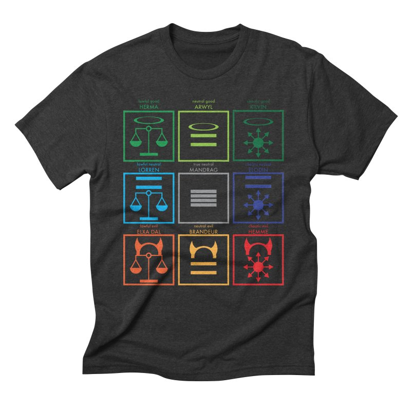 Alignment Chart (PotW) Men's Triblend T-Shirt by JordanaHeney Illustration