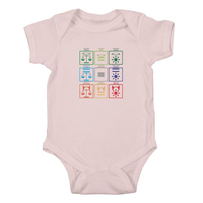 Alignment Chart (PotW) Kids Baby Bodysuit by JordanaHeney Illustration