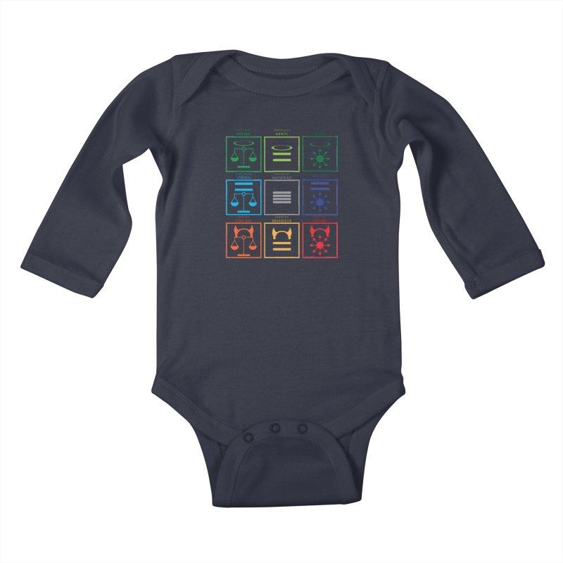 Alignment Chart (PotW) Kids Baby Longsleeve Bodysuit by JordanaHeney Illustration