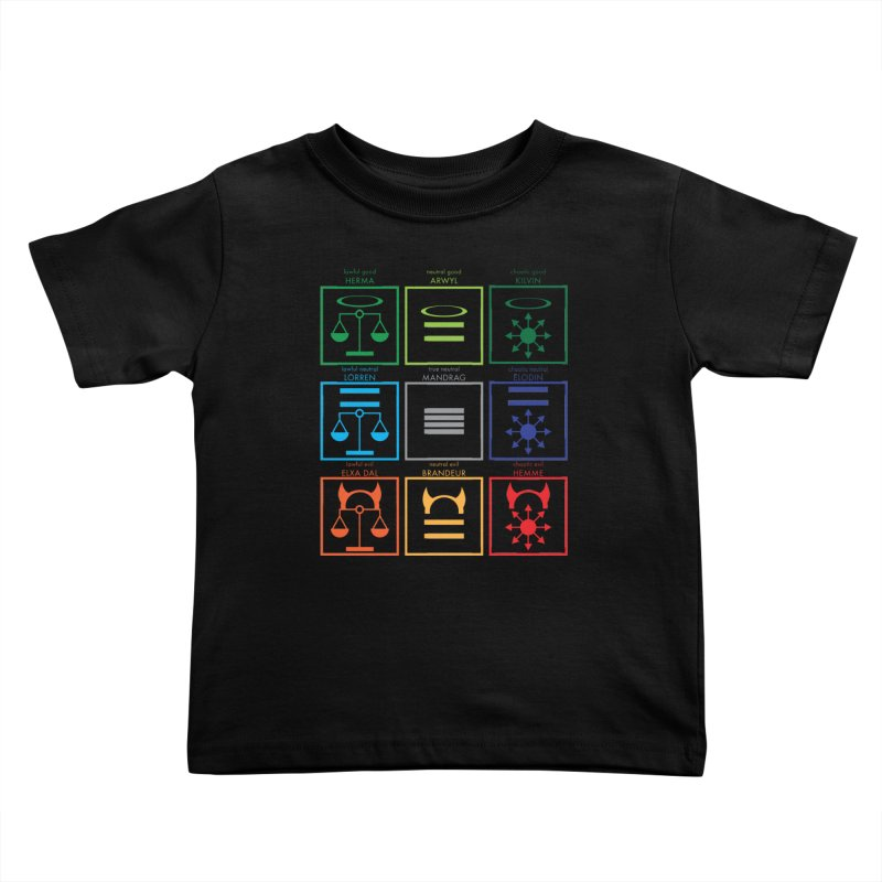 Alignment Chart (PotW) Kids Toddler T-Shirt by JordanaHeney Illustration