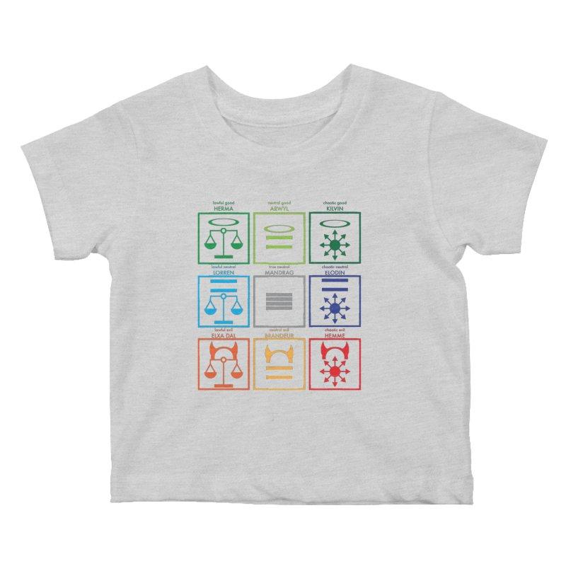 Alignment Chart (PotW) Kids Baby T-Shirt by JordanaHeney Illustration