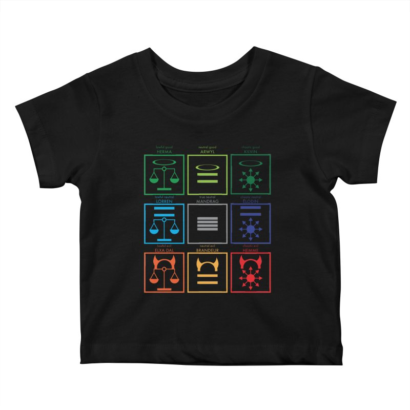 Alignment Chart (PotW) Kids Baby T-Shirt by JordanaHeney Illustration
