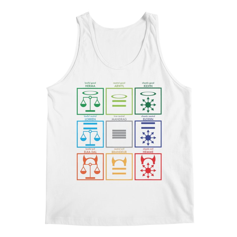 Alignment Chart (PotW) Men's Tank by JordanaHeney Illustration