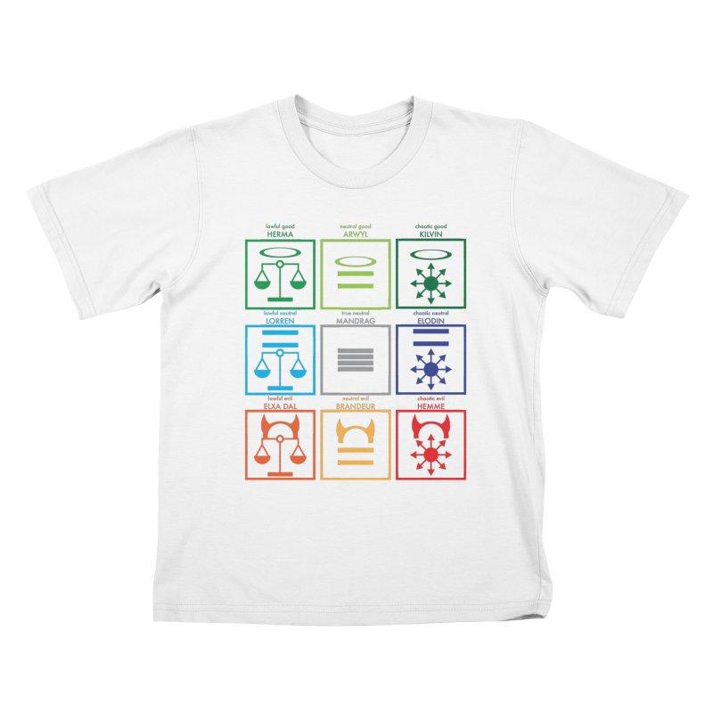 Alignment Chart (PotW) Kids T-Shirt by JordanaHeney Illustration