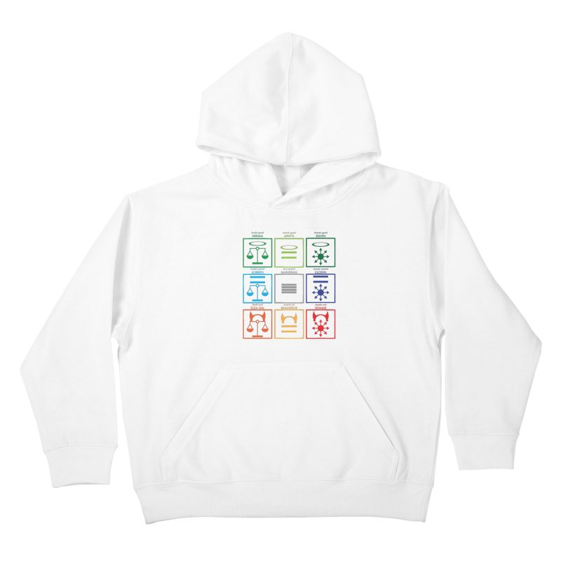 Alignment Chart (PotW) Kids Pullover Hoody by JordanaHeney Illustration