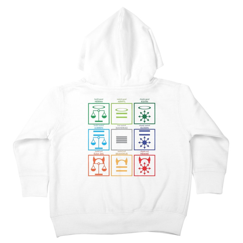 Alignment Chart (PotW) Kids Toddler Zip-Up Hoody by JordanaHeney Illustration
