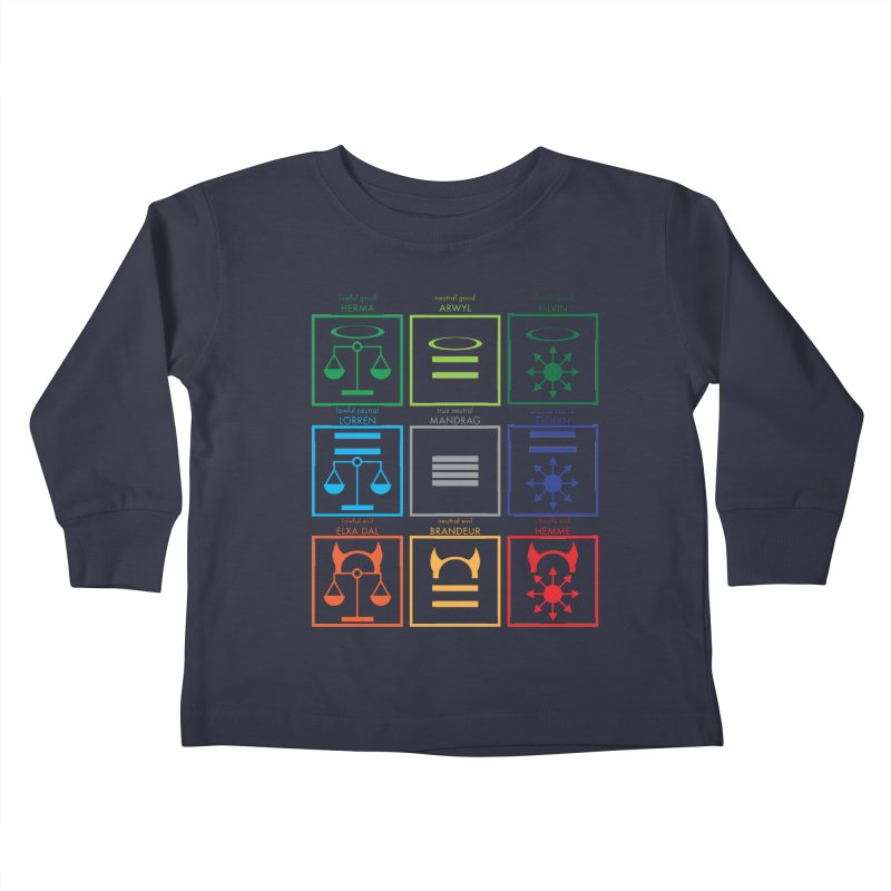 Alignment Chart (PotW) Kids Toddler Longsleeve T-Shirt by JordanaHeney Illustration