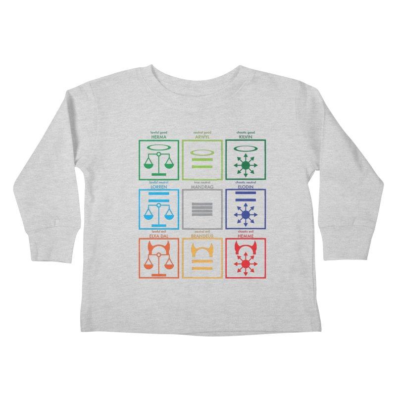 Alignment Chart (PotW) Kids Toddler Longsleeve T-Shirt by JordanaHeney Illustration