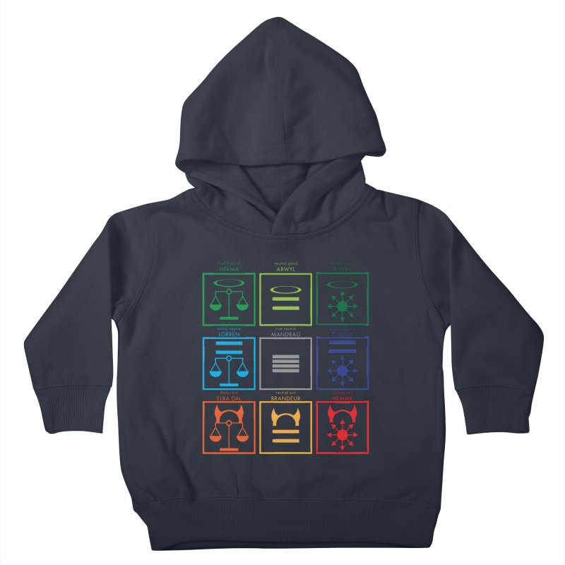 Alignment Chart (PotW) Kids Toddler Pullover Hoody by JordanaHeney Illustration
