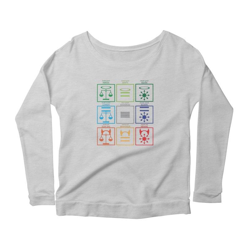 Alignment Chart (PotW) Women's Scoop Neck Longsleeve T-Shirt by JordanaHeney Illustration