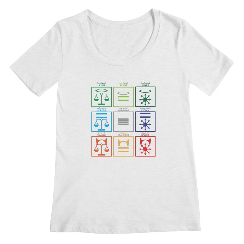 Alignment Chart (PotW) Women's Regular Scoop Neck by JordanaHeney Illustration