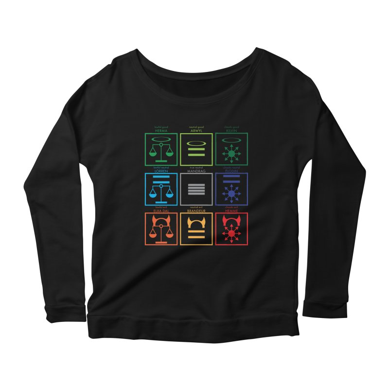 Alignment Chart (PotW) Women's Scoop Neck Longsleeve T-Shirt by JordanaHeney Illustration