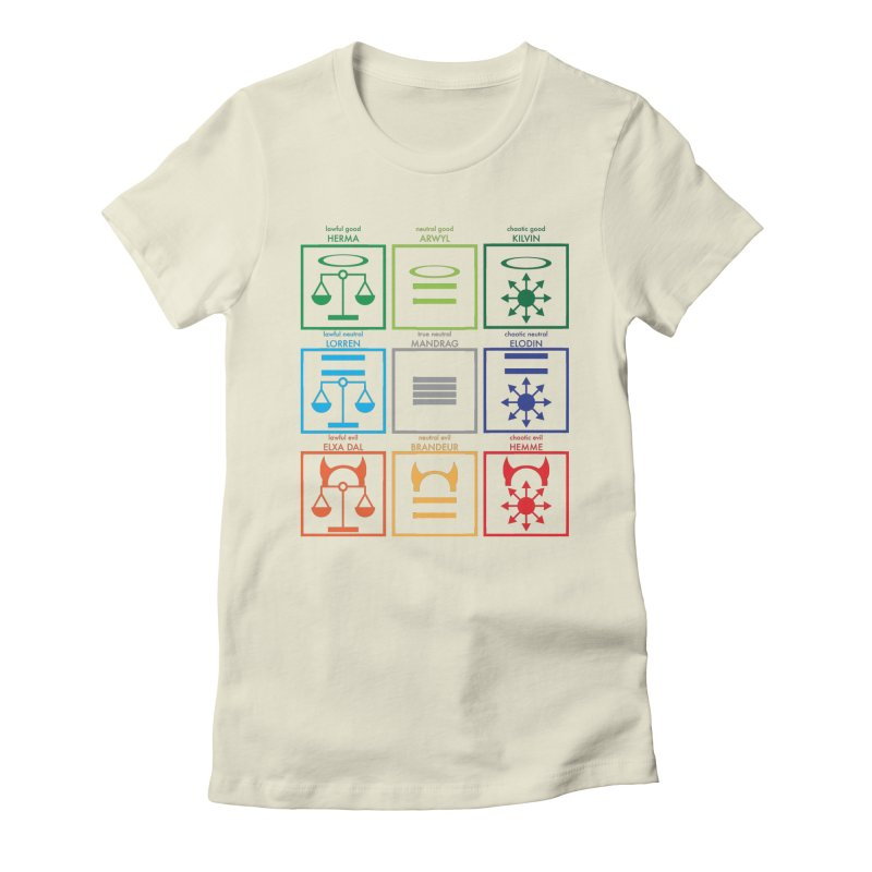 Alignment Chart (PotW) Women's Fitted T-Shirt by JordanaHeney Illustration