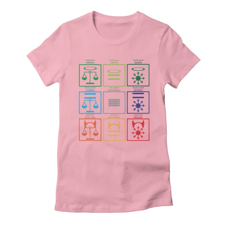Alignment Chart (PotW) Women's T-Shirt by JordanaHeney Illustration