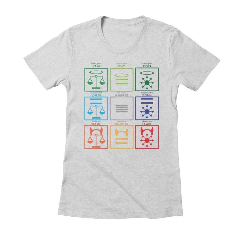 Alignment Chart (PotW) Women's T-Shirt by JordanaHeney Illustration