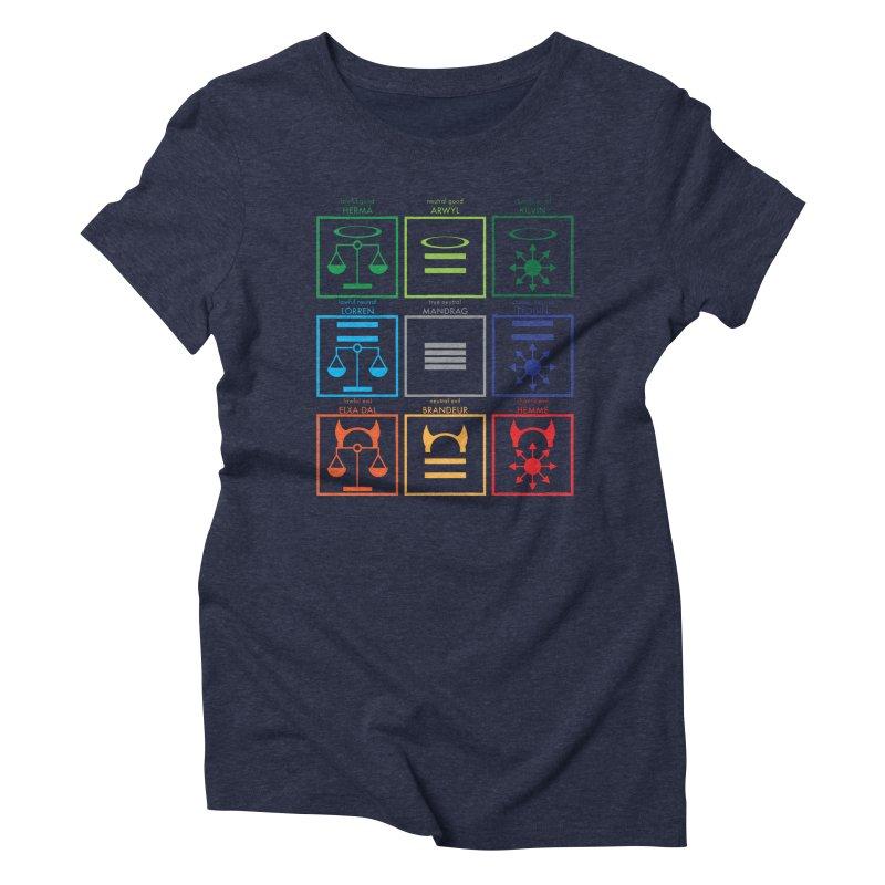 Alignment Chart (PotW) Women's Triblend T-Shirt by JordanaHeney Illustration