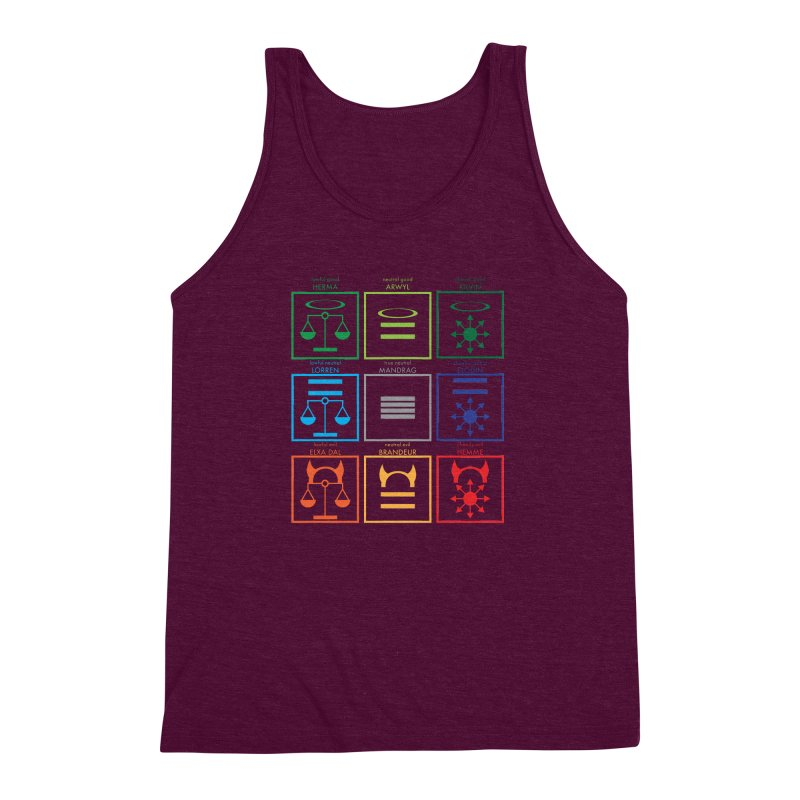 Alignment Chart (PotW) Men's Triblend Tank by JordanaHeney Illustration