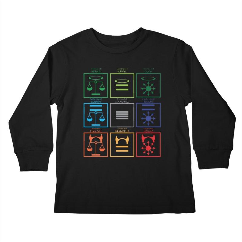 Alignment Chart (PotW) Kids Longsleeve T-Shirt by JordanaHeney Illustration
