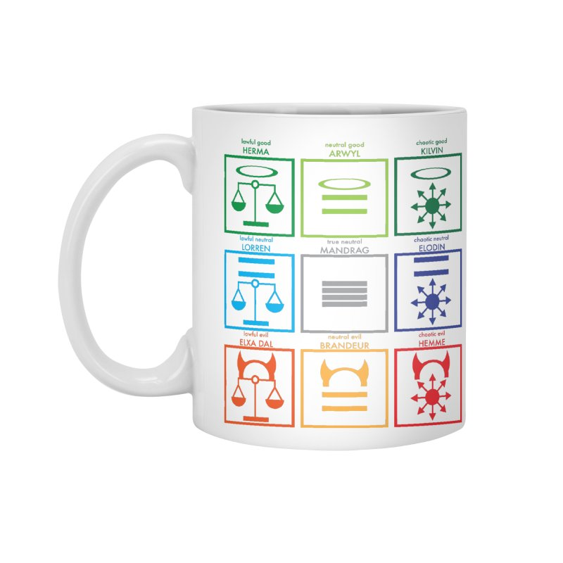 Alignment Chart (PotW) Accessories Standard Mug by JordanaHeney Illustration