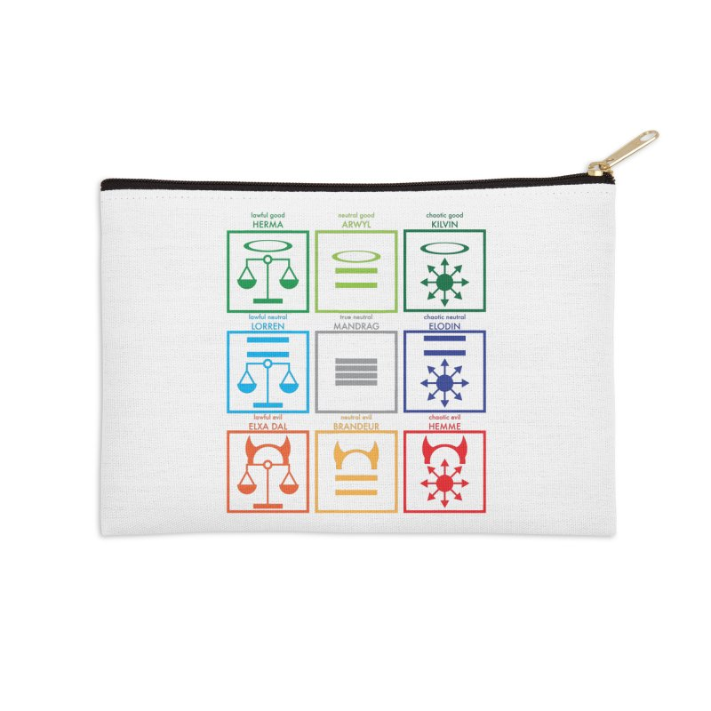 Alignment Chart (PotW) Accessories Zip Pouch by JordanaHeney Illustration