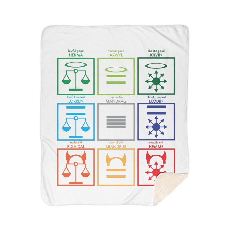 Alignment Chart (PotW) Home Sherpa Blanket Blanket by JordanaHeney Illustration