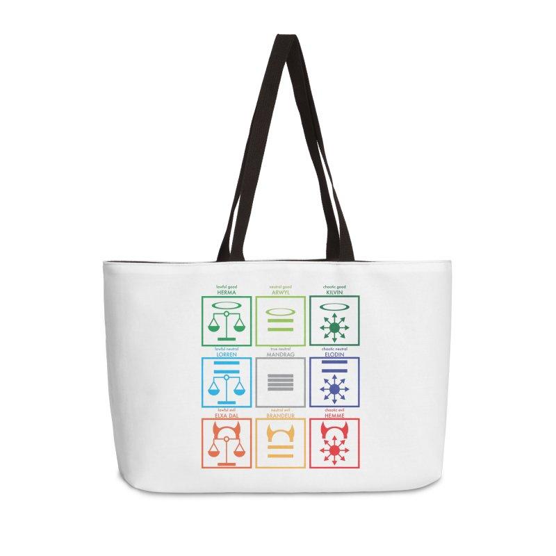 Alignment Chart (PotW) Accessories Weekender Bag Bag by JordanaHeney Illustration