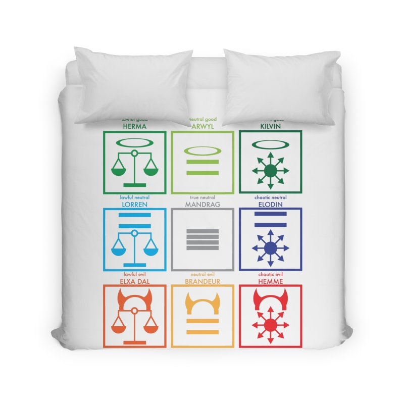 Alignment Chart (PotW) Home Duvet by JordanaHeney Illustration
