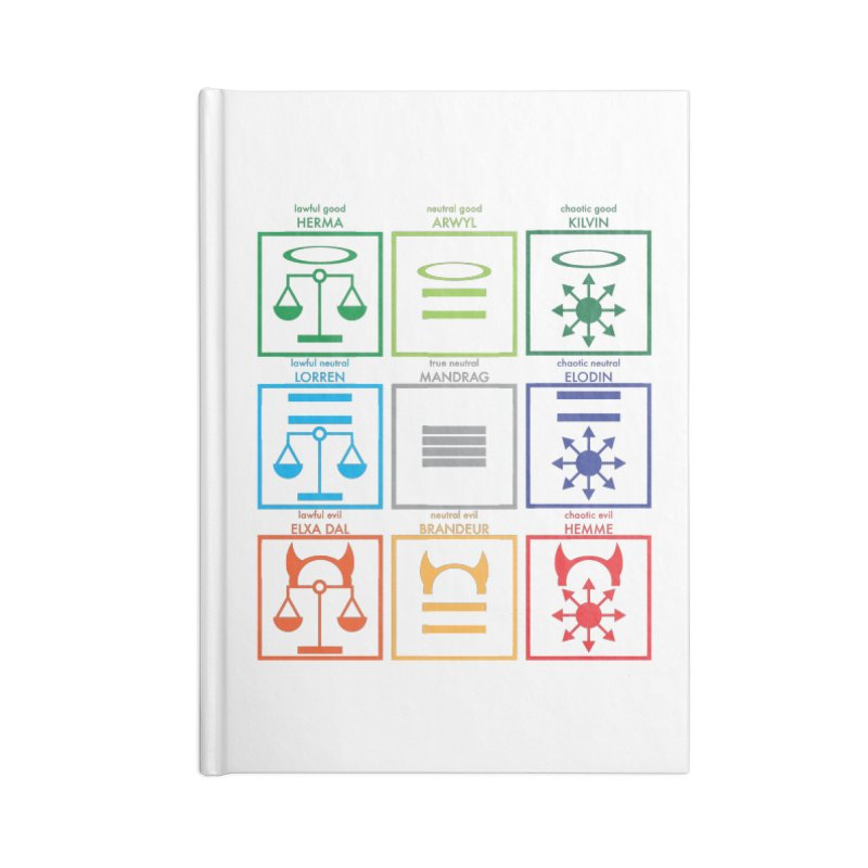 Alignment Chart (PotW) Accessories Lined Journal Notebook by JordanaHeney Illustration