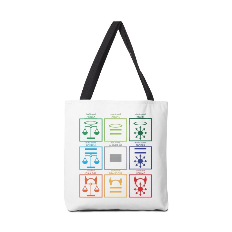 Alignment Chart (PotW) Accessories Tote Bag Bag by JordanaHeney Illustration