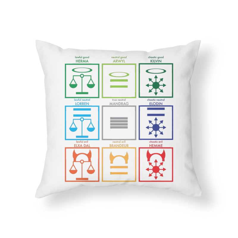 Alignment Chart (PotW) Home Throw Pillow by JordanaHeney Illustration
