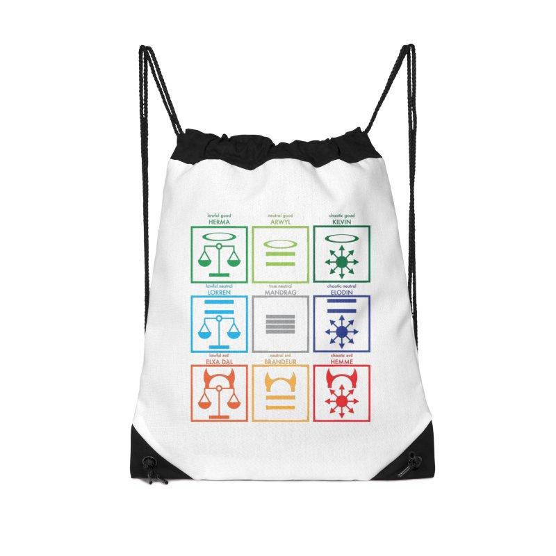 Alignment Chart (PotW) Accessories Bag by JordanaHeney Illustration