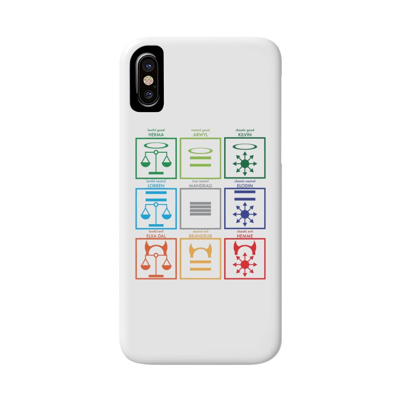 Alignment Chart (PotW) Accessories Phone Case by JordanaHeney Illustration