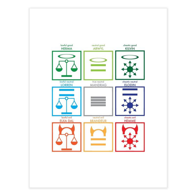 Alignment Chart (PotW) Home Fine Art Print by JordanaHeney Illustration