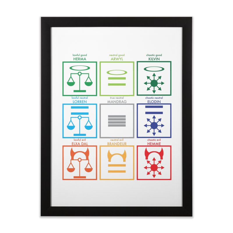 Alignment Chart (PotW) Home Framed Fine Art Print by JordanaHeney Illustration