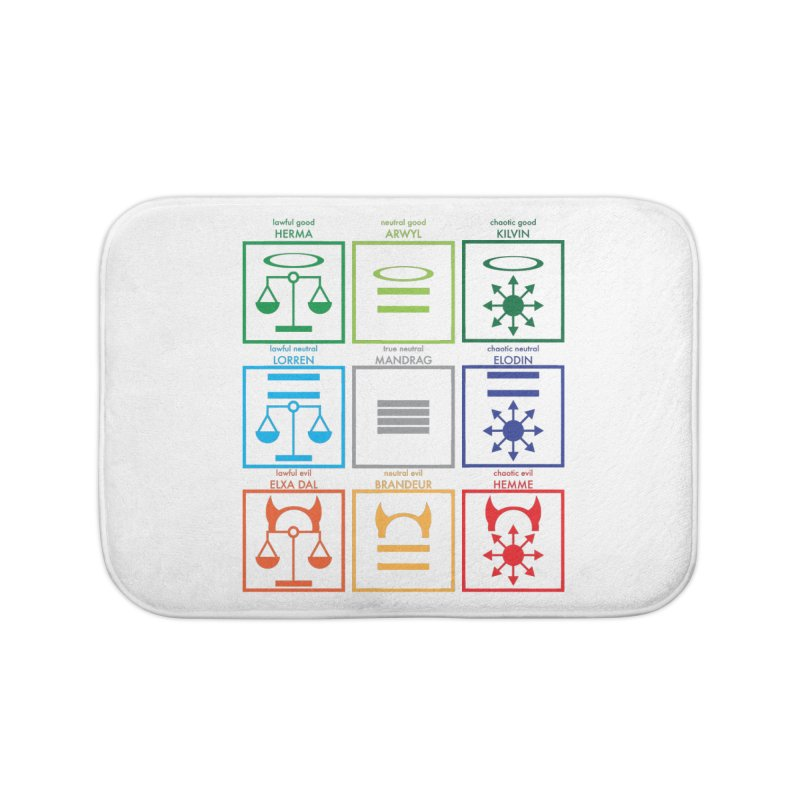Alignment Chart (PotW) Home Bath Mat by JordanaHeney Illustration