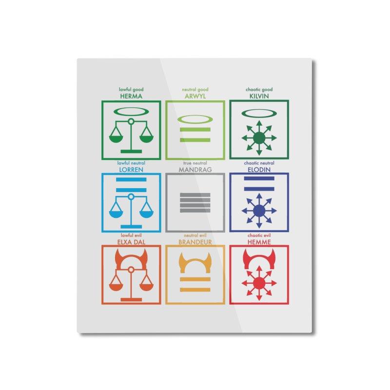 Alignment Chart (PotW) Home Mounted Aluminum Print by JordanaHeney Illustration