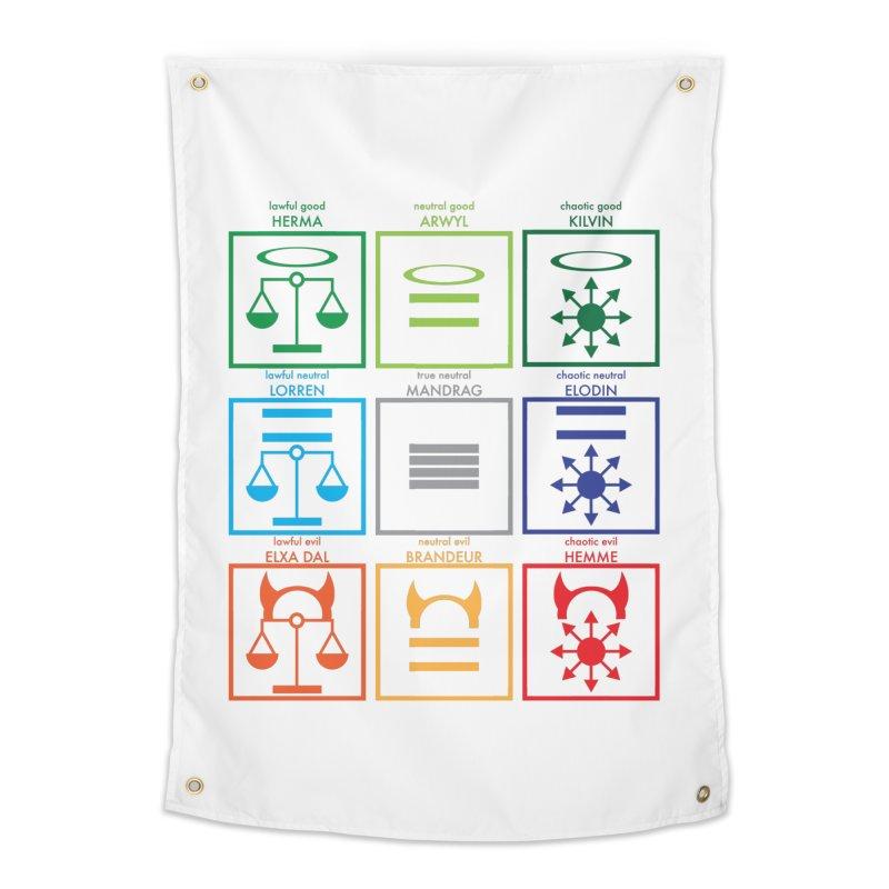 Alignment Chart (PotW) Home Tapestry by JordanaHeney Illustration