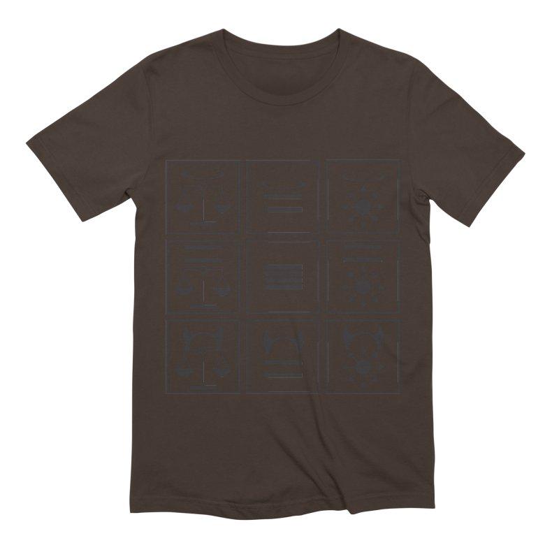 Alignment Chart: Black Men's Extra Soft T-Shirt by JordanaHeney Illustration