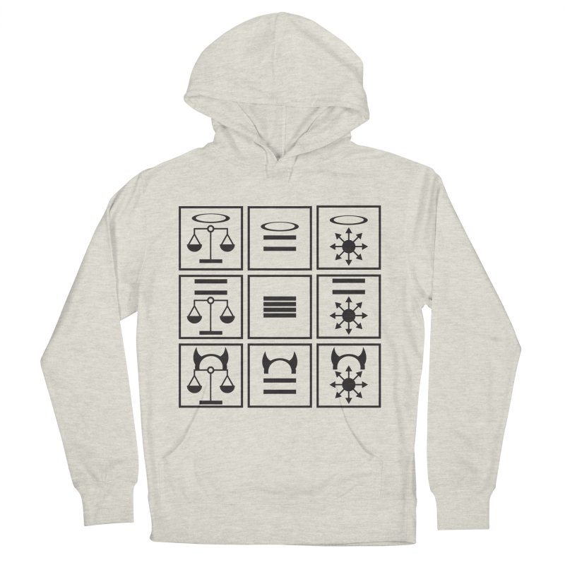Alignment Chart: Black Women's French Terry Pullover Hoody by JordanaHeney Illustration